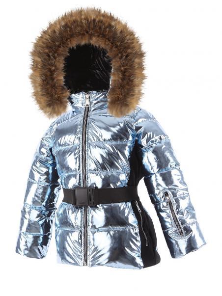 Спортивная куртка на экологическим пуху с поясом