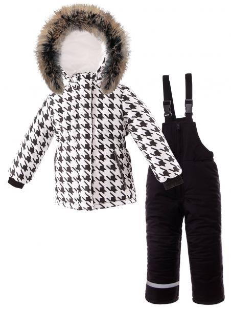 Модный комплект: зимняя куртка + полукомбинезон