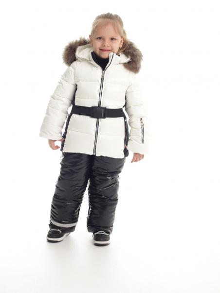 Komplet: zimowa kurtka sportowa z paskiem...